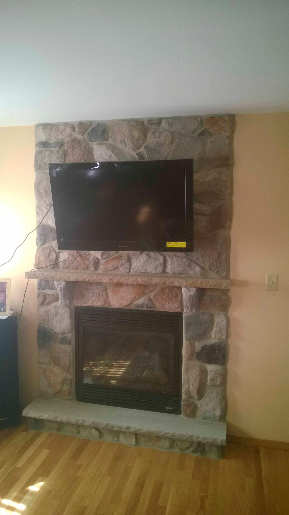 Fireplace facelift: after